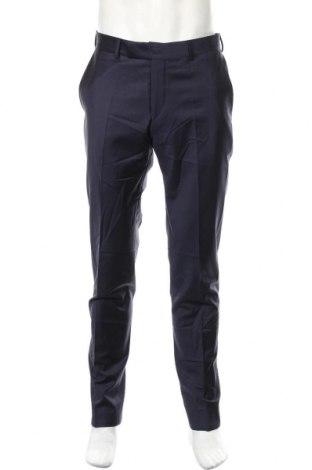 Ανδρικό παντελόνι Karl Lagerfeld, Μέγεθος L, Χρώμα Μπλέ, 86% μαλλί, 10% πολυαμίδη, 4% ελαστάνη, Τιμή 96,83€