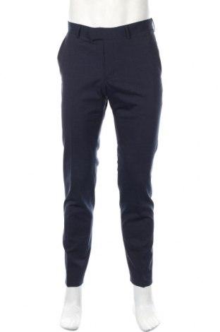 Ανδρικό παντελόνι Lagerfeld, Μέγεθος M, Χρώμα Μπλέ, 54% μαλλί, 43% πολυεστέρας, 3% ελαστάνη, Τιμή 73,38€
