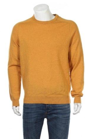 Ανδρικό πουλόβερ Canda, Μέγεθος L, Χρώμα Κίτρινο, Μαλλί, Τιμή 14,94€