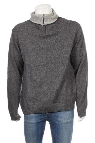 Pánsky sveter  Gant, Veľkosť L, Farba Sivá, 45% bavlna, 20% vlna, 20% vlna z alpaky, 15% polyamide, Cena  33,45€