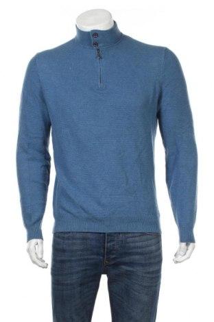 Pánsky sveter  Massimo Dutti, Veľkosť M, Farba Modrá, 95% bavlna, 5% kašmír, Cena  30,62€