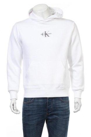 Ανδρικό φούτερ Calvin Klein Jeans, Μέγεθος M, Χρώμα Λευκό, 50% βαμβάκι, 50% πολυεστέρας, Τιμή 34,41€