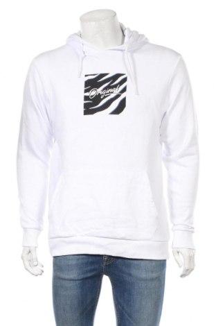 Ανδρικό φούτερ Originals By Jack & Jones, Μέγεθος M, Χρώμα Λευκό, Βαμβάκι, Τιμή 20,10€