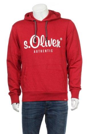 Ανδρικό φούτερ S.Oliver, Μέγεθος L, Χρώμα Κόκκινο, Βαμβάκι, Τιμή 24,74€