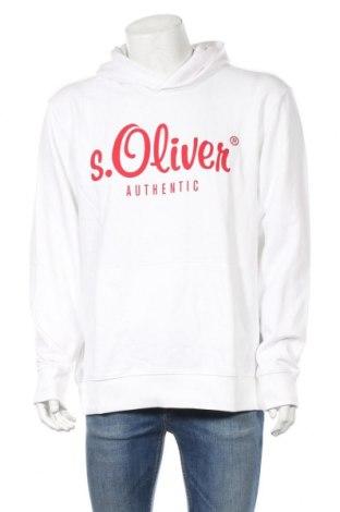 Ανδρικό φούτερ S.Oliver, Μέγεθος XL, Χρώμα Λευκό, 80% βαμβάκι, 20% πολυεστέρας, Τιμή 26,68€