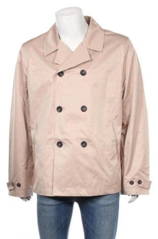 Męski płaszcz Rainbow, Rozmiar XL, Kolor Beżowy, 64% bawełna, 28% poliester, 8% poliamid, Cena 157,50zł