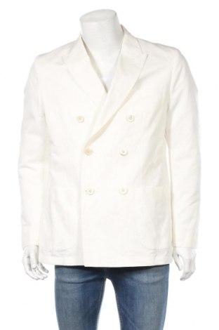 Ανδρικό σακάκι Massimo Dutti, Μέγεθος L, Χρώμα Λευκό, 55% βαμβάκι, 45% λινό, Τιμή 68,19€
