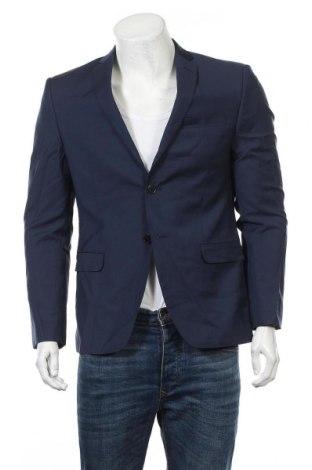 Ανδρικό σακάκι S.Oliver, Μέγεθος M, Χρώμα Μπλέ, Μαλλί, Τιμή 71,81€
