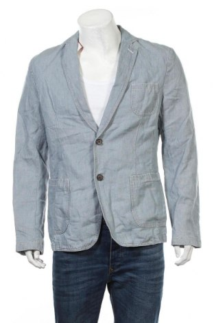 Ανδρικό σακάκι S.Oliver, Μέγεθος L, Χρώμα Μπλέ, 53% λινό, 47% βαμβάκι, Τιμή 50,16€