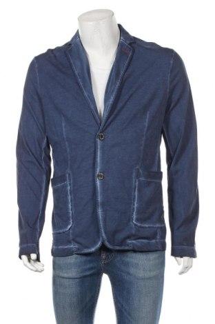 Ανδρικό σακάκι S.Oliver, Μέγεθος L, Χρώμα Μπλέ, Βαμβάκι, Τιμή 37,53€