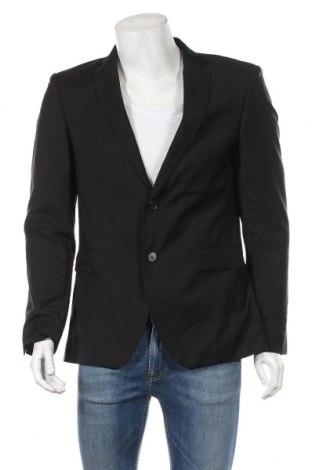 Ανδρικό σακάκι S.Oliver, Μέγεθος M, Χρώμα Μαύρο, Μαλλί, Τιμή 73,38€