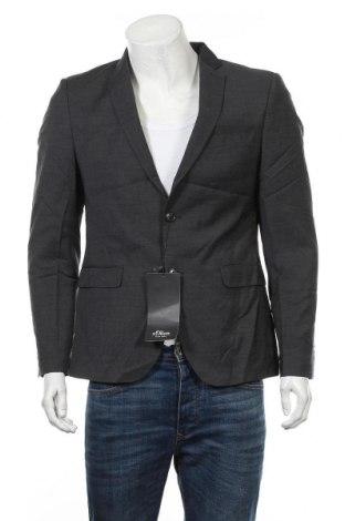 Ανδρικό σακάκι S.Oliver, Μέγεθος M, Χρώμα Γκρί, Τιμή 42,94€