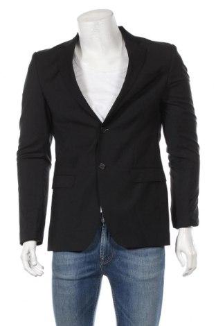 Ανδρικό σακάκι S.Oliver, Μέγεθος L, Χρώμα Μαύρο, Μαλλί, Τιμή 76,73€
