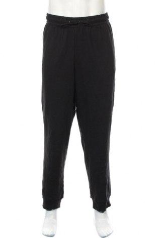 Ανδρικό αθλητικό παντελόνι Adidas, Μέγεθος XXL, Χρώμα Μαύρο, 70% βαμβάκι, 30% πολυεστέρας, Τιμή 16,89€