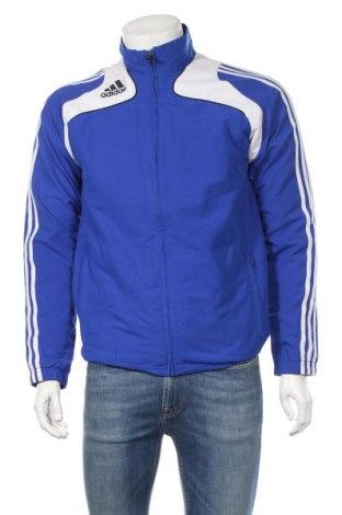 Ανδρική αθλητική ζακέτα Adidas, Μέγεθος S, Χρώμα Μπλέ, Πολυεστέρας, Τιμή 11,69€