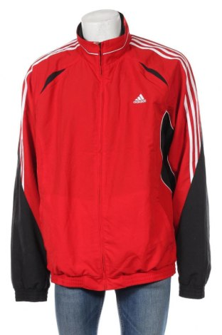 Ανδρική αθλητική ζακέτα Adidas, Μέγεθος XXL, Χρώμα Κόκκινο, Πολυεστέρας, Τιμή 27,28€