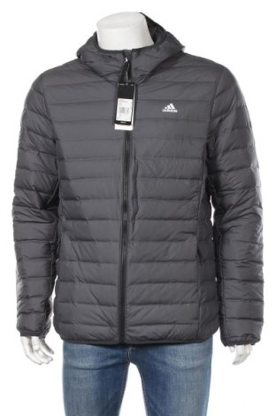 Ανδρικό μπουφάν Adidas, Μέγεθος L, Χρώμα Γκρί, 100% πολυεστέρας, Τιμή 68,19€