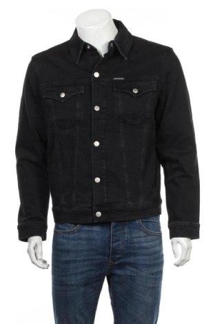Męska kurtka Calvin Klein Jeans, Rozmiar M, Kolor Czarny, 98% bawełna, 2% elastyna, Cena 348,25zł