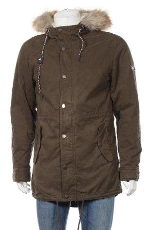 Pánska bunda  Tommy Hilfiger, Veľkosť M, Farba Zelená, 80% bavlna, 20% polyamide, Cena  200,52€
