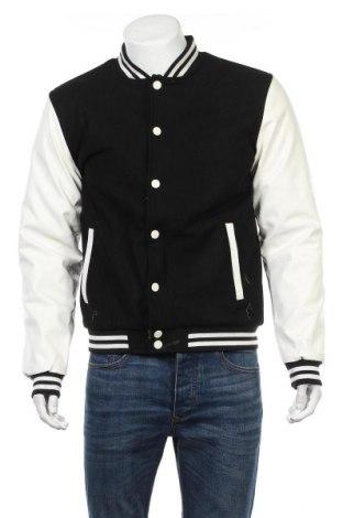 Pánska bunda  Urban Classics, Veľkosť L, Farba Čierna, Vlna, Eko koža , viskóza, Cena  43,30€