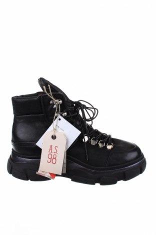 Παπούτσια A.S. 98, Μέγεθος 40, Χρώμα Μαύρο, Γνήσιο δέρμα, Τιμή 80,08€