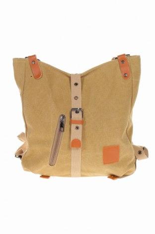 Plecak, Kolor Beżowy, Materiał tekstylny, eko skóra, Cena 68,40zł
