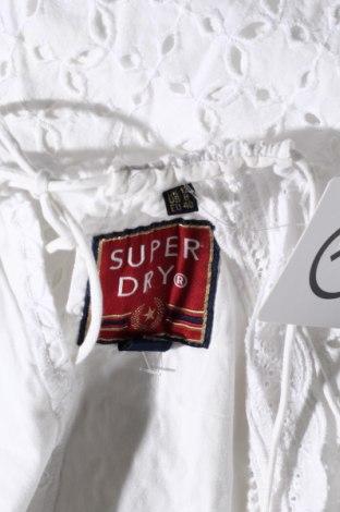 Рокля Superdry, Размер L, Цвят Бял, Памук, Цена 88,50лв.