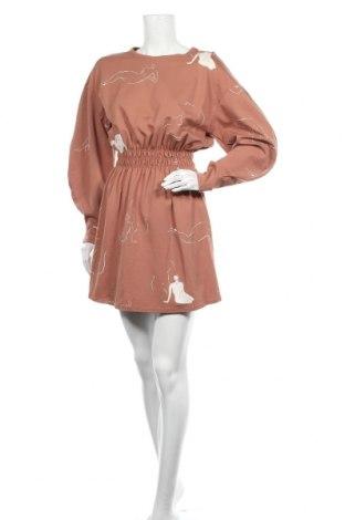 Рокля Zara, Размер S, Цвят Кафяв, 62% вискоза, 33% полиамид, 5% еластан, Цена 37,80лв.