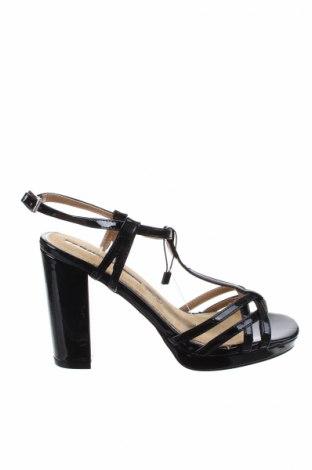 Sandale Maria Mare, Mărime 39, Culoare Negru, Piele ecologică, Preț 176,61 Lei