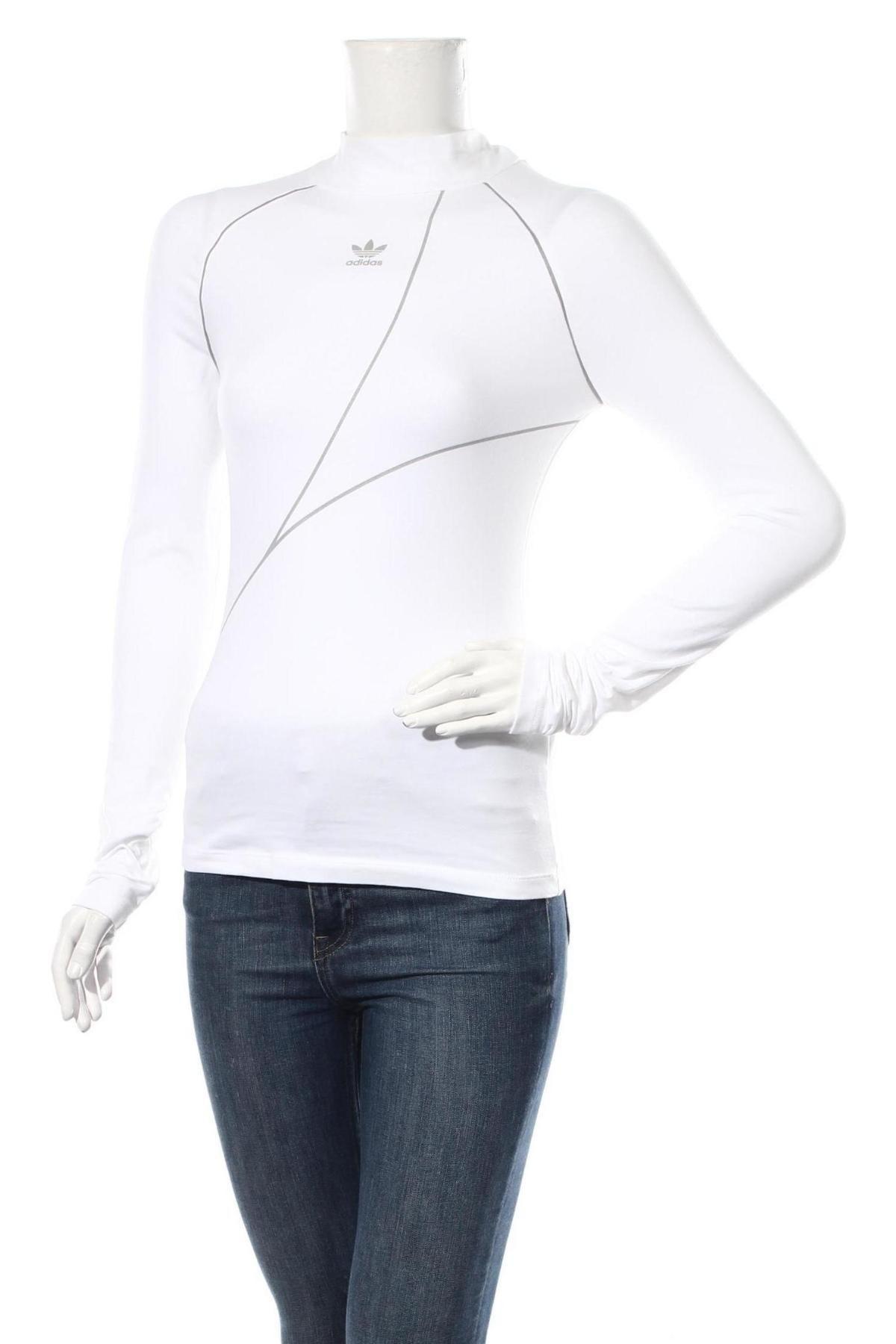 Дамска блуза Adidas Originals, Размер XS, Цвят Бял, 93% памук, 7% еластан, Цена 57,00лв.