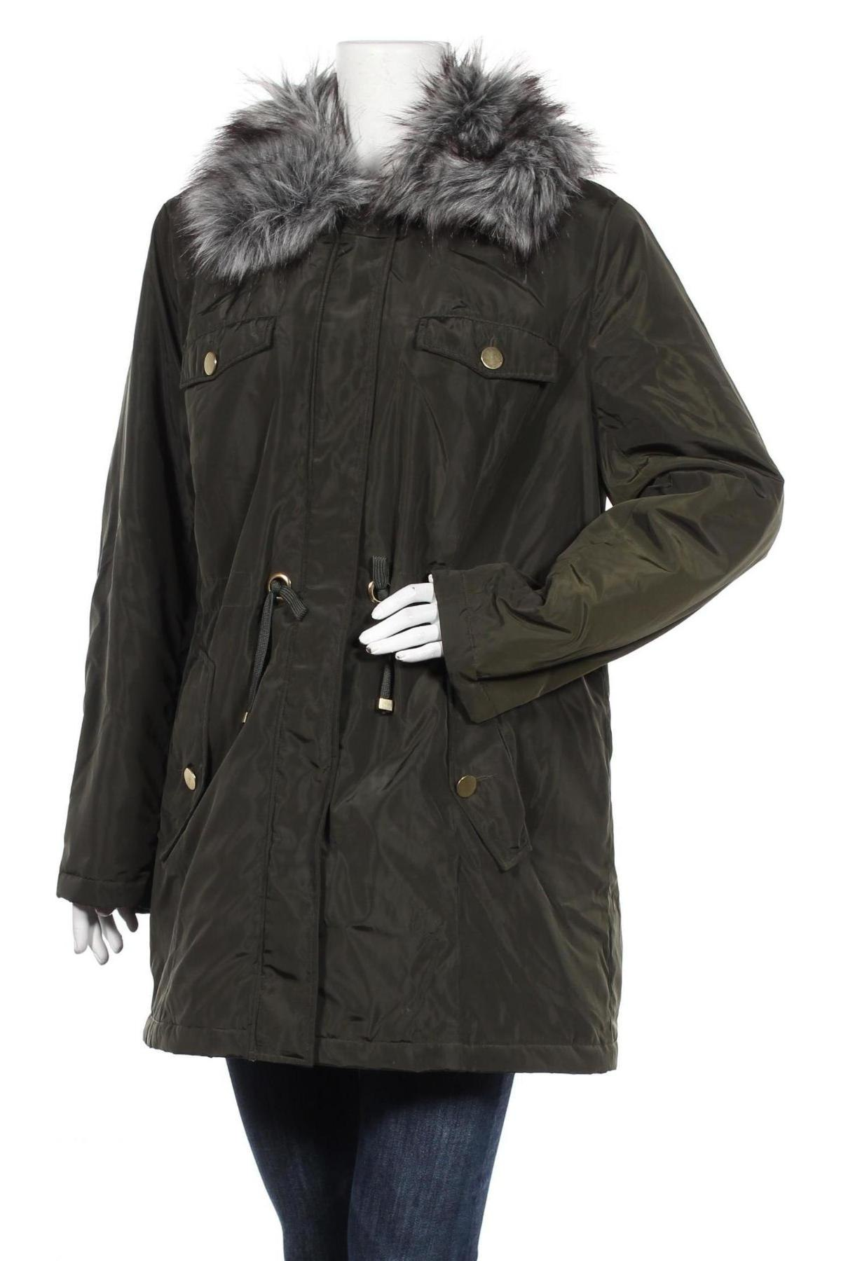Дамско яке Bpc Bonprix Collection, Размер L, Цвят Зелен, Полиестер, Цена 30,50лв.