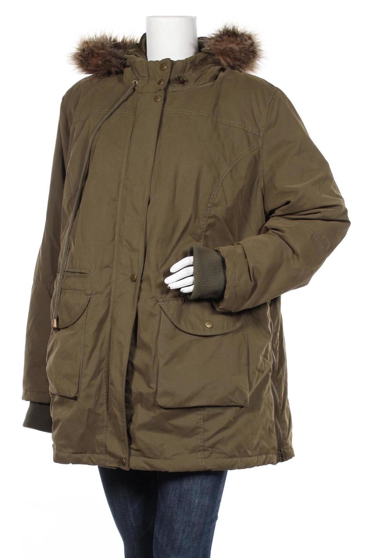 Дамско яке Bpc Bonprix Collection, Размер L, Цвят Зелен, 58% полиестер, 42% памук, Цена 84,00лв.