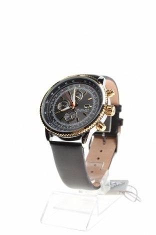 Ρολόι August Steiner, Χρώμα Μαύρο, Γνήσιο δέρμα, μέταλλο, Τιμή 266,36€