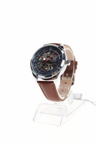 Ρολόι August Steiner, Χρώμα Καφέ, Γνήσιο δέρμα, μέταλλο, Τιμή 316,62€
