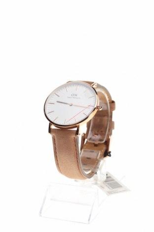 Ρολόι Daniel Wellington, Χρώμα Καφέ, Γνήσιο δέρμα, μέταλλο, Τιμή 123,32€