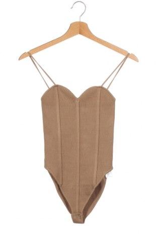 Bluză-body de damă. Zara, Mărime S, Culoare Maro, 54% viscoză, 44% poliamidă, 2% elastan, Preț 79,54 Lei