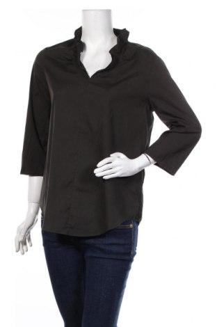 Дамска блуза COS, Размер M, Цвят Зелен, 74% памук, 22% полиамид, 4% еластан, Цена 19,20лв.