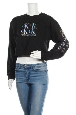 Дамска блуза Calvin Klein Jeans, Размер S, Цвят Черен, Памук, Цена 73,50лв.