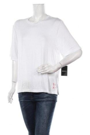 Дамска блуза DKNY, Размер L, Цвят Бял, 95% вискоза, 5% еластан, Цена 59,25лв.