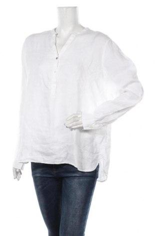 Дамска блуза MOS MOSH, Размер XL, Цвят Бял, 100% лен, Цена 66,75лв.