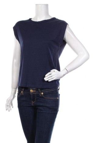 Дамска блуза Massimo Dutti, Размер M, Цвят Син, 67% лиосел, 33% памук, Цена 21,00лв.