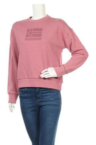 Дамска блуза Napapijri, Размер S, Цвят Розов, Памук, Цена 96,75лв.