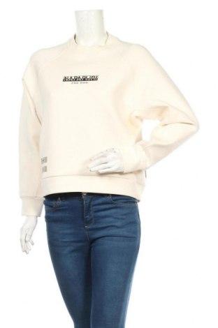 Дамска блуза Napapijri, Размер S, Цвят Бял, 80% памук, 14% полиестер, 6% еластан, Цена 96,75лв.