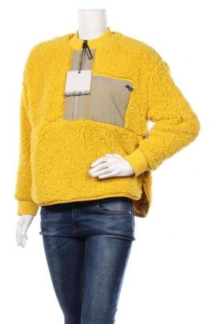 Дамска блуза Napapijri, Размер S, Цвят Жълт, Полиестер, Цена 119,25лв.