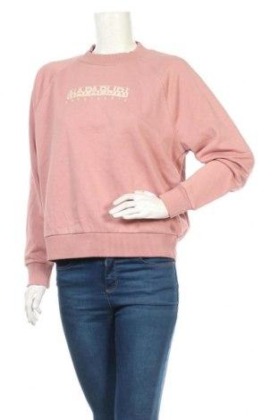 Дамска блуза Napapijri, Размер S, Цвят Пепел от рози, 90% памук, 10% полиестер, Цена 111,75лв.