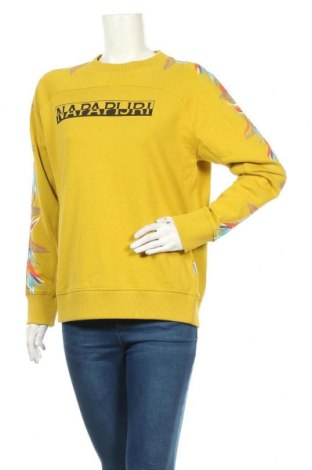Дамска блуза Napapijri, Размер S, Цвят Зелен, Памук, Цена 111,75лв.