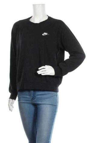 Дамска блуза Nike, Размер M, Цвят Черен, 80% памук, 20% полиестер, Цена 59,25лв.