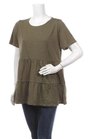 Дамска блуза ONLY, Размер XL, Цвят Зелен, Памук, Цена 31,50лв.