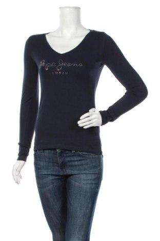 Bluză de femei Pepe Jeans, Mărime S, Culoare Albastru, 95% bumbac, 5% elastan, Preț 194,90 Lei