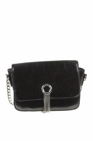 Дамска чанта Bershka, Цвят Черен, Еко кожа, Цена 25,50лв.